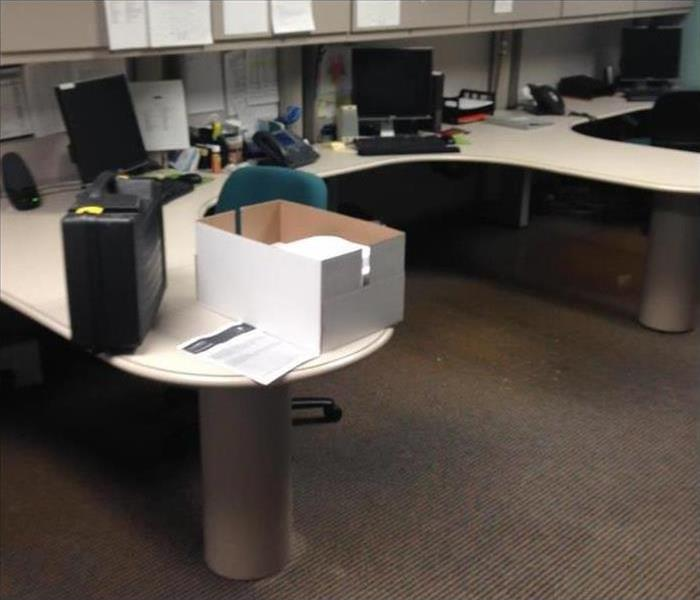 office cubical with property damage