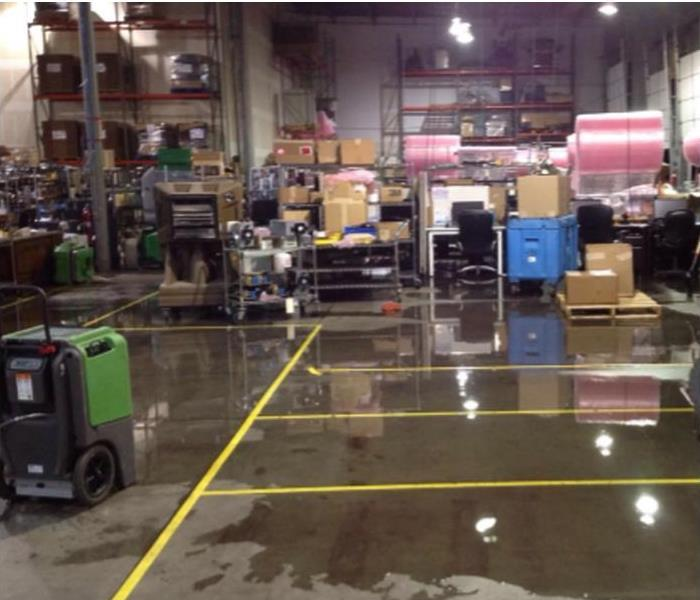 Warehouse water damage Before